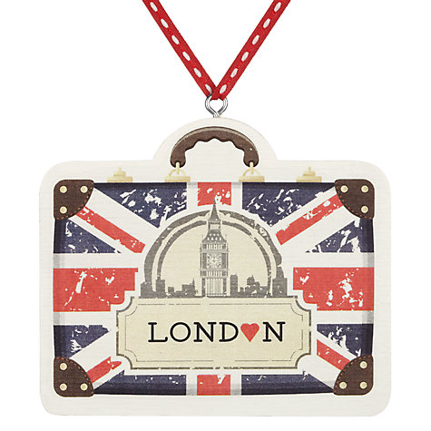 Buy Deck The Halls Travel Case Wooden Tree Decoration Online at johnlewis.com