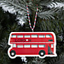 Buy Deck The Halls Wooden London Bus Tree Decoration Online at johnlewis.com