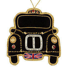 Buy Tinker Tailor Tourism London Taxi Hanging Decoration Online at johnlewis.com