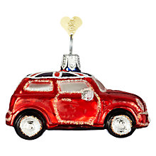 Buy Bombki Little UK Mini Cooper Glass Tree Decoration, Multi Online at johnlewis.com