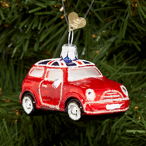 Buy Bombki Tourism Little UK Mini Cooper Glass Hanging Decoration Online at johnlewis.com