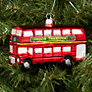 Buy Bombki Large London Bus Glass Tree Decoration, Red Online at johnlewis.com