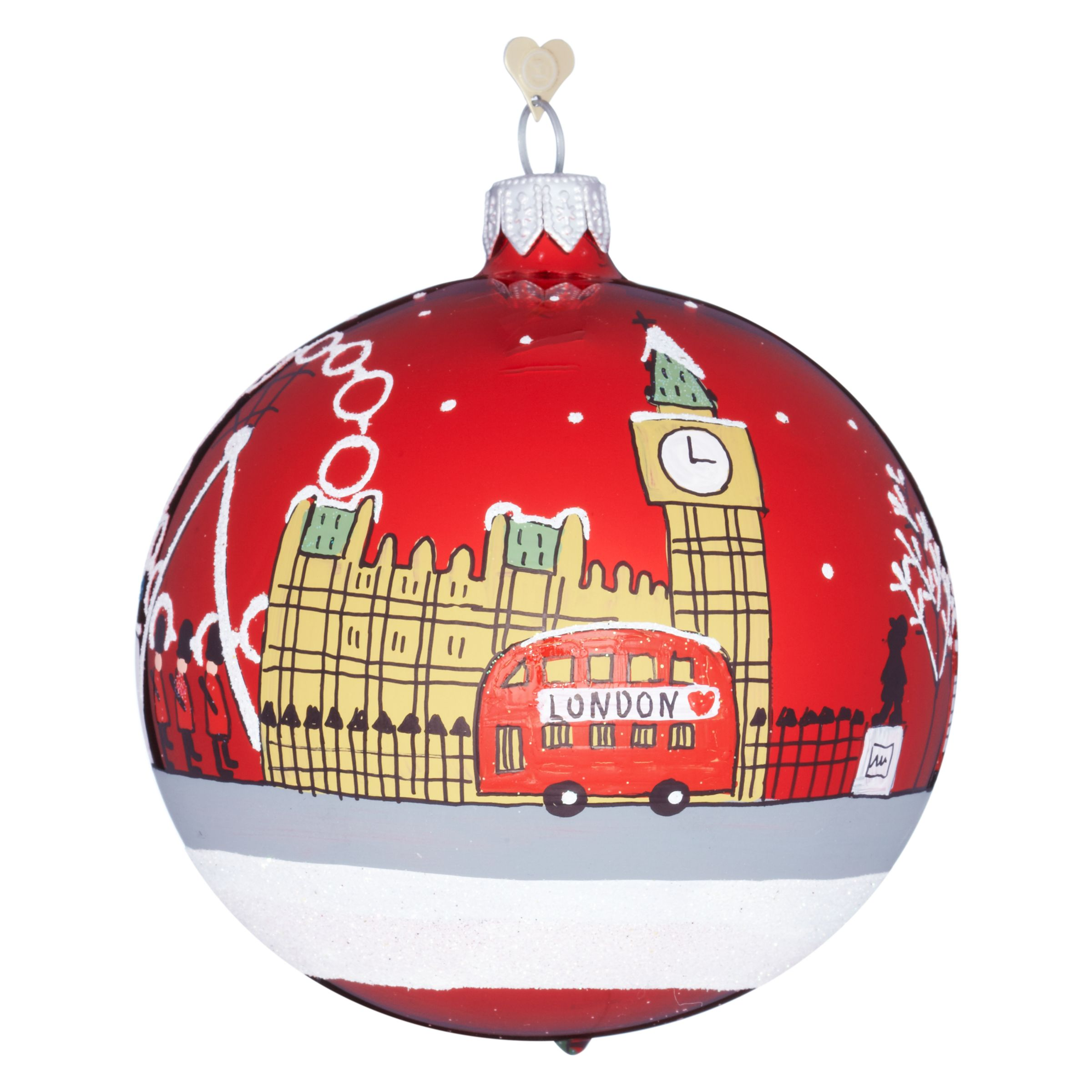 Bombki London Sky Glass Tree Decoration Multi
