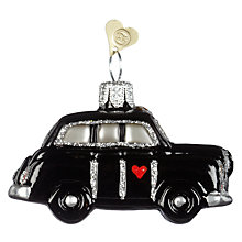 Buy Bombki Little London Taxi Glass Hanging Decoration, Black Online at johnlewis.com
