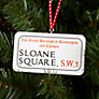 Buy Deck The Halls Sloane Square Street Sign Wooden Tree Decoration Online at johnlewis.com