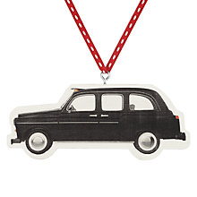Buy Deck The Halls London Taxi Wooden Hanging Decoration Online at johnlewis.com