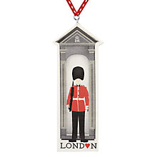 Buy Deck The Halls Sentry Box Wooden Tree Decoration Online at johnlewis.com