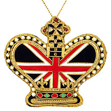 Buy Tinker Tailor Tourism Union Jack Crown Tree Decoration Online at johnlewis.com