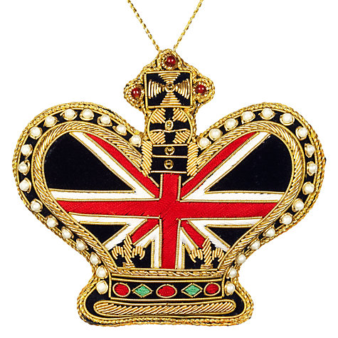 Buy Tinker Tailor Union Jack Crown Tree Decoration Online at johnlewis.com