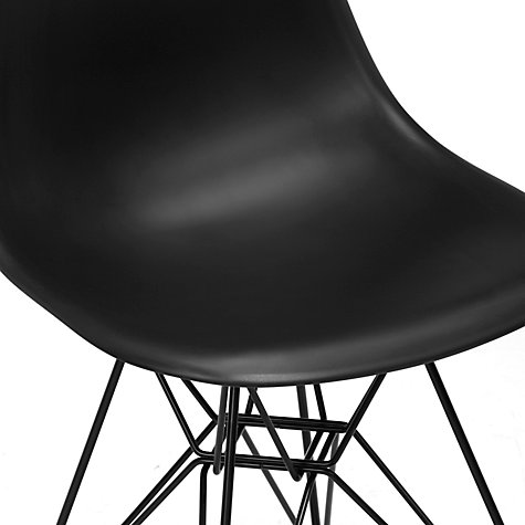 Buy Vitra Eames DSR Side Chair, Black Online at johnlewis.com