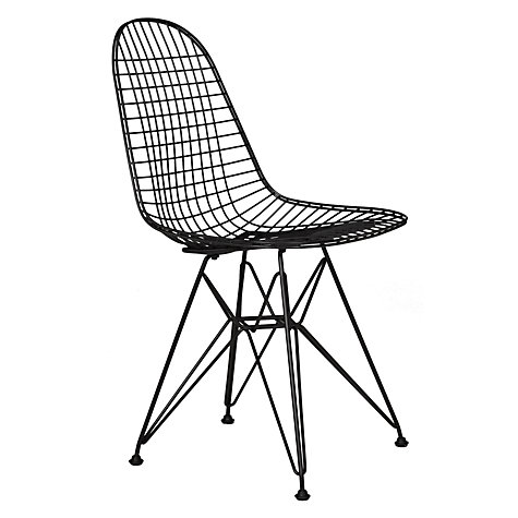 Buy Vitra Eames DKR Side Chair, Black Online at johnlewis.com
