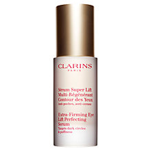 Buy Clarins Extra Firming Eye Lift Perfecting Serum, 15ml Online at johnlewis.com
