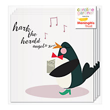 Buy Caroline Gardner Singing Penguin Charity Christmas Cards, Pack of 8 Online at johnlewis.com