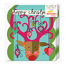 Buy Caroline Gardner Reindeer Charity Christmas Cards, Pack of 5 Online at johnlewis.com