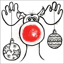 Buy Almanac Rudolph Charity Christmas Cards, Box of 8 Online at johnlewis.com