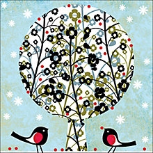 Buy Almanac Floral Tree Charity Christmas Cards, Box of 8 Online at johnlewis.com
