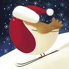 Buy Paperhouse Skiing Robin Charity Christmas Card, Box of 6 Online at johnlewis.com