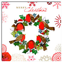 Buy Hammond Gower Robin Wreath Charity Christmas Cards, Box of 5 Online at johnlewis.com