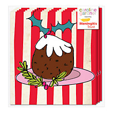 Buy Caroline Gardner Christmas Pudding Charity Christmas Cards, Pack of 5 Online at johnlewis.com