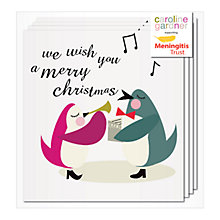 Buy Caroline Gardner Singing Penguins Charity Christmas Cards, Pack of 5 Online at johnlewis.com