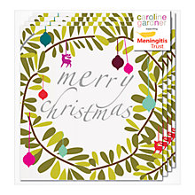 Buy Caroline Gardner Christmas Wreath Charity Christmas Cards, Box of 5 Online at johnlewis.com