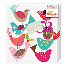 Buy Caroline Gardner Charity Christmas Cards Robins And Present, Pack of 5 Online at johnlewis.com