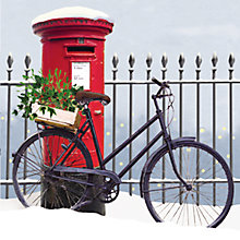 Buy Almanac Bike and Post Box Charity Christmas Cards, Box of 8 Online at johnlewis.com