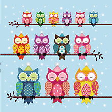 Buy Almanac Party Owls Charity Christmas Cards, Box of 8 Online at johnlewis.com