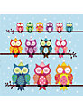 Almanac Party Owls Charity Christmas Cards, Box of 8