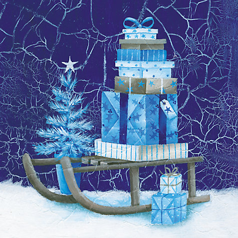 Buy Paperhouse Gifts On A Sledge Charity Christmas Cards, Box of 6 Online at johnlewis.com