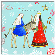 Buy Hammond Gower Mary, Joseph And Donkey Charity Christmas Cards, Pack of 5 Online at johnlewis.com
