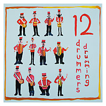 Buy Almanac Twelve Drummers Drumming Charity Christmas Cards, Box of 8 Online at johnlewis.com