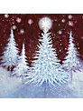 Paper House Christmas Sparkle Charity Christmas Cards, Box of 6