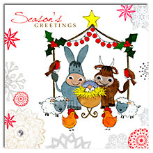 Buy Hammond Gower Nativity Animals Charity Christmas Cards, Pack of 5 Online at johnlewis.com