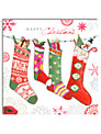 Hammond Gower Stockings Charity Christmas Cards, Pack of 5