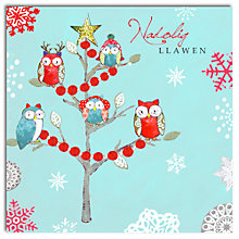 Buy Hammond Gower Owl Tree Welsh Charity Christmas Cards, Pack of 5 Online at johnlewis.com