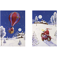 Buy UK Greetings Special Editions Santa On Scooter Charity Christmas Cards, Box of 8 Online at johnlewis.com