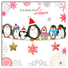 Buy Hammond Gower Penguins Welsh Charity Christmas Card, Box of 5 Online at johnlewis.com