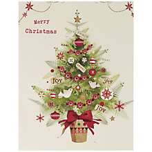 Buy UK Greetings Special Editions Tree And Garland Charity Christmas Cards, Box of 8 Online at johnlewis.com