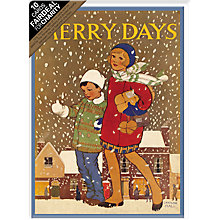 Buy Almanac Merry Days Charity Christmas Cards, Box of 10 Online at johnlewis.com