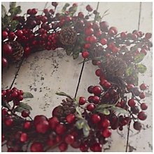 Buy UK Greetings Special Editions Berry Wreath Charity Christmas Cards, Box of 8 Online at johnlewis.com