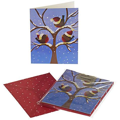Buy UK Greetings Special Editions Robins With Hats Charity Christmas Cards, Box of 8 Online at johnlewis.com