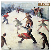 Buy Almanac Winter Skating Charity Christmas Cards, Box of 5 Online at johnlewis.com