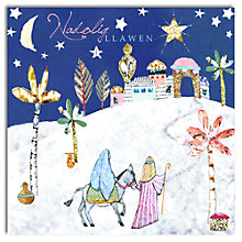 Buy Hammond Gower Nativity Scene Welsh Charity Christmas Cards, Pack of 5 Online at johnlewis.com