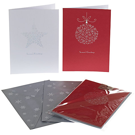 Buy UK Greetings Special Editions Foil Bauble Star Charity Christmas Cards, Box of 8 Online at johnlewis.com