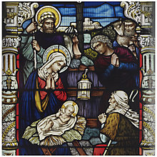 Buy UK Greetings Special Editions Stained Glass Nativity Charity Christ,as Cards, Box of 8 Online at johnlewis.com