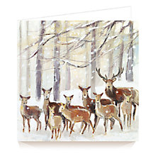 Buy Art Marketing Reindeer Charity Christmas Cards, Pack of 6 Online at johnlewis.com