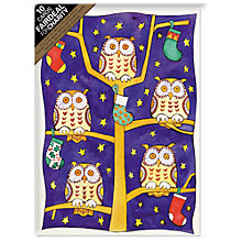 Buy Almanac Five Wise Owls Charity Christmas Cards, Box of 10 Online at johnlewis.com