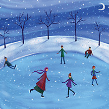 Buy Ling Design Ice Skating Charity Christmas Cards, Box of 10 Online at johnlewis.com