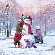 Buy Ling Design Family Snowman Charity Christmas Cards, Box of 6 Online at johnlewis.com